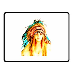 Indian 29 Double Sided Fleece Blanket (small)  by indianwarrior