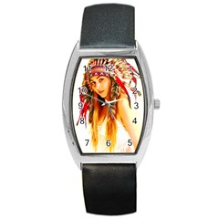 Indian 26 Barrel Style Metal Watch by indianwarrior