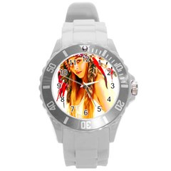 Indian 26 Round Plastic Sport Watch (l) by indianwarrior