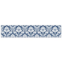 White On Blue Damask Flano Scarf (small)