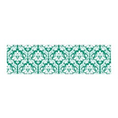 White On Emerald Green Damask Satin Scarf (oblong) by Zandiepants