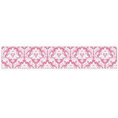 White On Soft Pink Damask Flano Scarf (large)