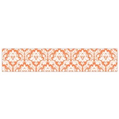 White On Orange Damask Flano Scarf (small) by Zandiepants
