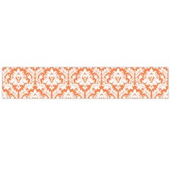 White On Orange Damask Flano Scarf (large) by Zandiepants