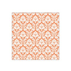 White On Orange Damask Satin Bandana Scarf by Zandiepants