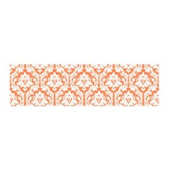 White On Orange Damask Satin Scarf (oblong) by Zandiepants