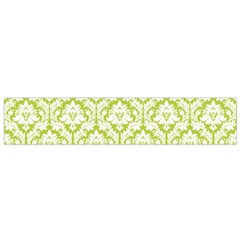 White On Spring Green Damask Flano Scarf (small)