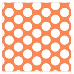 Orange Polkadot Large Satin Scarf (square) by Zandiepants