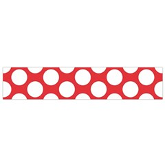 Red Polkadot Flano Scarf (small) by Zandiepants