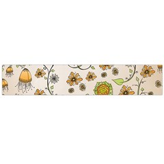 Yellow Whimsical Flowers  Flano Scarf (large) by Zandiepants