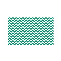 Emerald Green And White Zigzag Satin Wrap by Zandiepants
