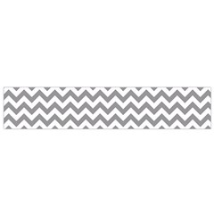 Grey And White Zigzag Flano Scarf (small) by Zandiepants