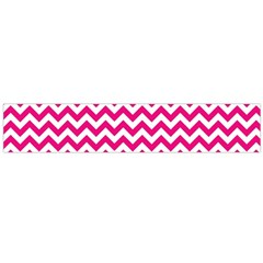 Hot Pink And White Zigzag Flano Scarf (large) by Zandiepants