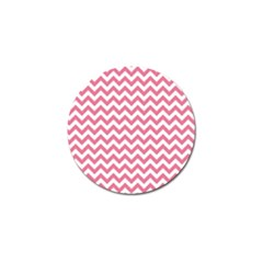 Pink And White Zigzag Golf Ball Marker (4 Pack) by Zandiepants
