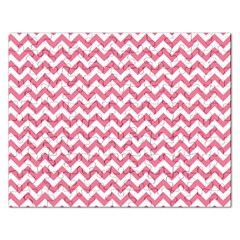 Pink And White Zigzag Rectangular Jigsaw Puzzl by Zandiepants