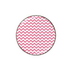 Pink And White Zigzag Hat Clip Ball Marker by Zandiepants