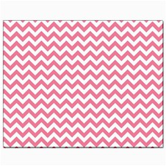Pink And White Zigzag Canvas 8  X 10  by Zandiepants
