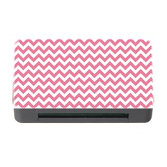 Pink And White Zigzag Memory Card Reader With Cf