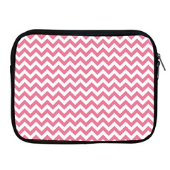 Pink And White Zigzag Apple Ipad 2/3/4 Zipper Cases by Zandiepants