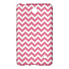 Pink And White Zigzag Samsung Galaxy Tab 4 (7 ) Hardshell Case  by Zandiepants