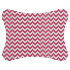 Pink And White Zigzag Jigsaw Puzzle Photo Stand (bow) by Zandiepants