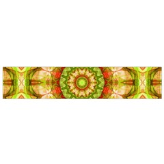 Red Green Apples Mandala Flano Scarf (small) by Zandiepants