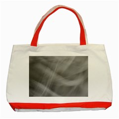 Gray Fog Classic Tote Bag (red) by timelessartoncanvas