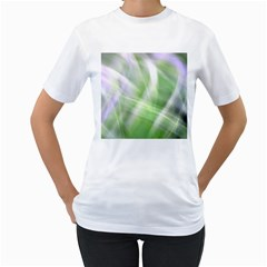Green And Purple Fog Women s T Shirt (white) (two Sided) by timelessartoncanvas