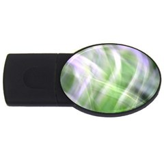 Green And Purple Fog Usb Flash Drive Oval (4 Gb)  by timelessartoncanvas