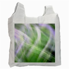 Green And Purple Fog Recycle Bag (two Side)  by timelessartoncanvas