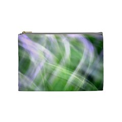 Green And Purple Fog Cosmetic Bag (medium)  by timelessartoncanvas