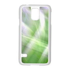 Green And Purple Fog Samsung Galaxy S5 Case (white) by timelessartoncanvas