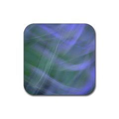 Purple Fog Rubber Square Coaster (4 Pack)  by timelessartoncanvas