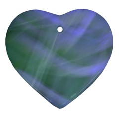 Purple Fog Heart Ornament (2 Sides) by timelessartoncanvas
