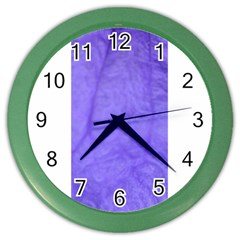 Purple Modern Leaf Color Wall Clocks by timelessartoncanvas