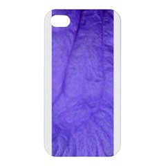 Purple Modern Leaf Apple Iphone 4/4s Hardshell Case by timelessartoncanvas