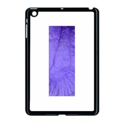 Purple Modern Leaf Apple Ipad Mini Case (black) by timelessartoncanvas