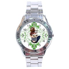 Pit Bull T Bone Lucky Puppy Stainless Steel Analogue Watch by ButThePitBull