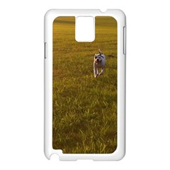 Pit Bull T Bone Samsung Galaxy Note 3 N9005 Case (white) by ButThePitBull