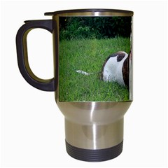 Pit Bull T Bone Travel Mugs (white) by ButThePitBull