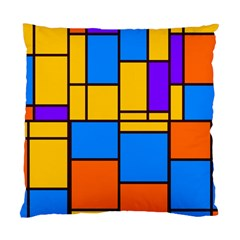 Retro Colors Rectangles And Squares 	standard Cushion Case (two Sides) by LalyLauraFLM