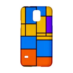 Retro Colors Rectangles And Squares 			samsung Galaxy S5 Hardshell Case by LalyLauraFLM