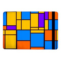 Retro Colors Rectangles And Squares 			samsung Galaxy Tab Pro 10 1  Flip Case by LalyLauraFLM