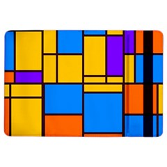 Retro Colors Rectangles And Squares 			apple Ipad Air 2 Flip Case by LalyLauraFLM
