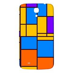 Retro Colors Rectangles And Squares 			samsung Galaxy Mega I9200 Hardshell Back Case by LalyLauraFLM