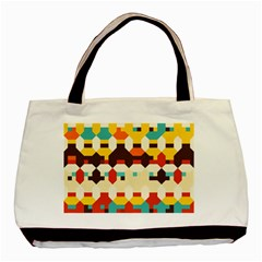 Shapes In Retro Colors 			basic Tote Bag by LalyLauraFLM