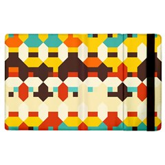 Shapes In Retro Colors 			apple Ipad 3/4 Flip Case by LalyLauraFLM