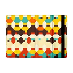 Shapes In Retro Colors 			apple Ipad Mini Flip Case by LalyLauraFLM