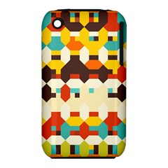 Shapes In Retro Colors 			apple Iphone 3g/3gs Hardshell Case (pc+silicone) by LalyLauraFLM