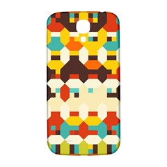 Shapes In Retro Colors 			samsung Galaxy S4 I9500/i9505 Hardshell Back Case by LalyLauraFLM